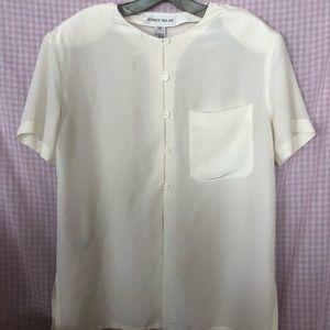 Vintage Jones Wear women's Semi Sheer White blouse